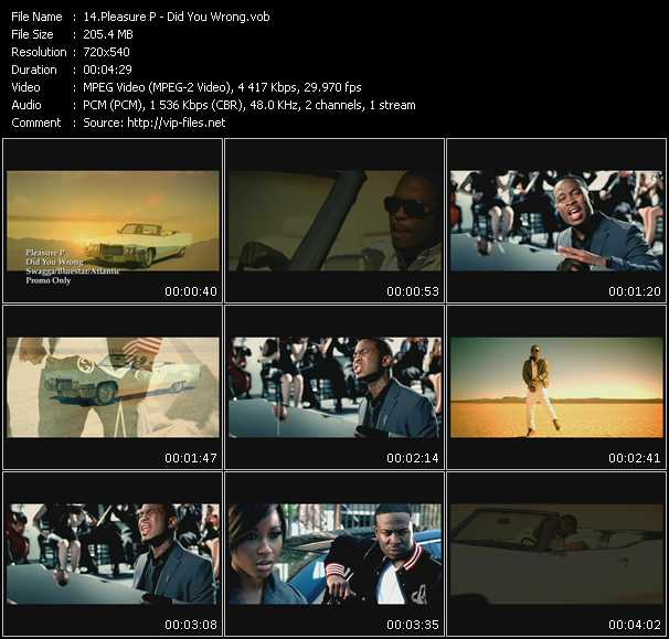 download Pleasure P « Did You Wrong » video vob