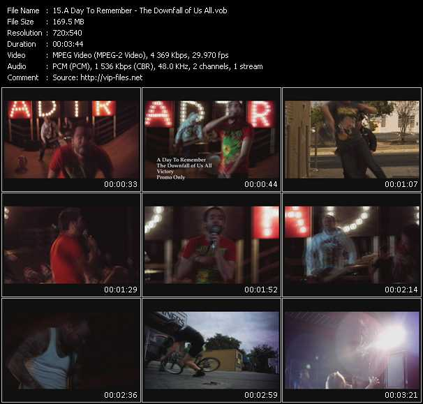 download A Day To Remember « The Downfall of Us All » video vob