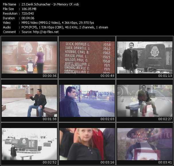 video In Memory Of screen