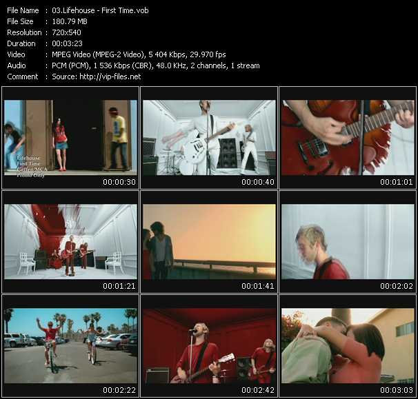 download Lifehouse « First Time » video vob