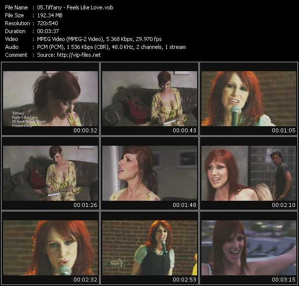 download Tiffany « Feels Like Love » video vob
