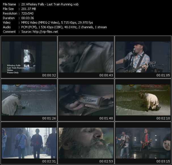 download Whiskey Falls « Last Train Running » video vob