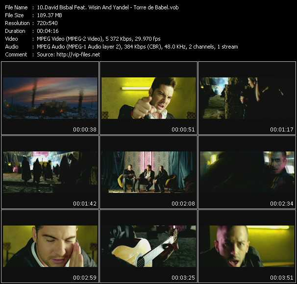 download David Bisbal Feat. Wisin And Yandel « Torre de Babel » video vob