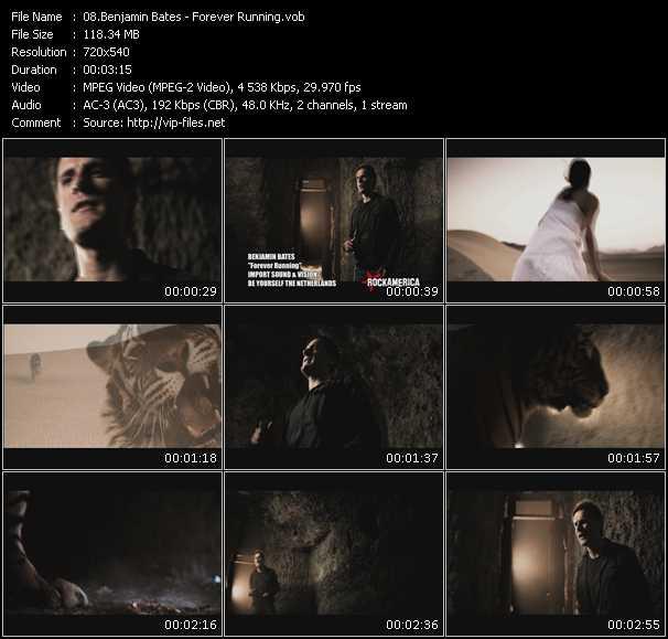 download Benjamin Bates « Forever Running » video vob