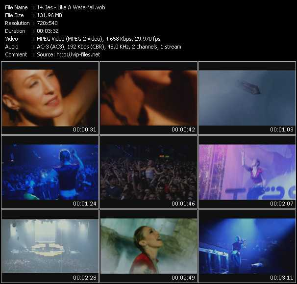 download Jes « Like A Waterfall » video vob