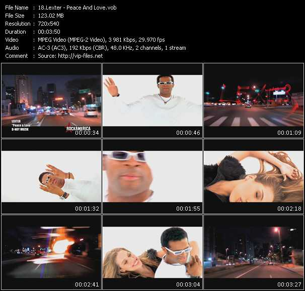 download Lexter « Peace And Love » video vob
