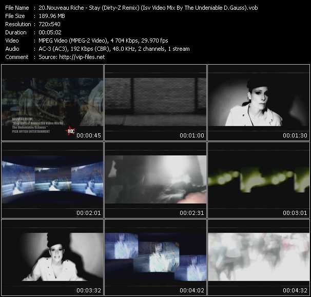 download Nouveau Riche « Stay (Dirty-Z Remix) (Isv Video Mix By The Undeniable D.Gauss) » video vob