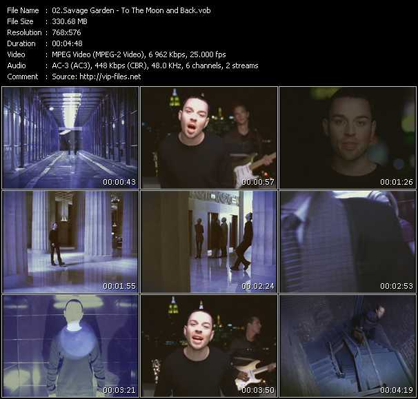 Savage Garden The Video Collection Vobs Savage Garden Videoclip To The Moon And Back