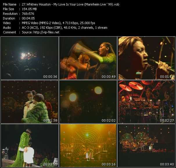 video My Love Is Your Love (Mannheim Live ' 99) screen