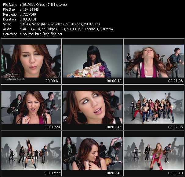 download Miley Cyrus « 7 Things » video vob