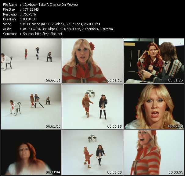 video Take A Chance On Me screen