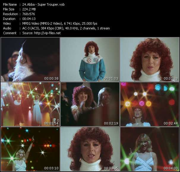 video Super Trouper screen