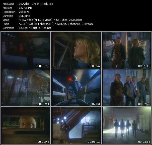 video Under Attack screen