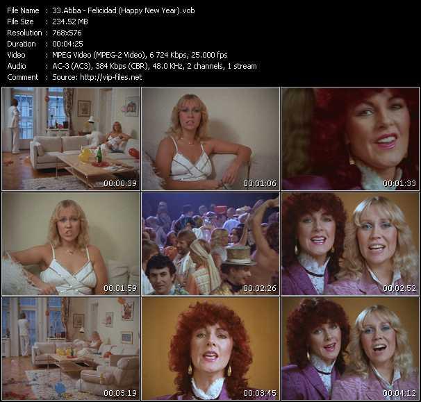 video Felicidad (Happy New Year) screen