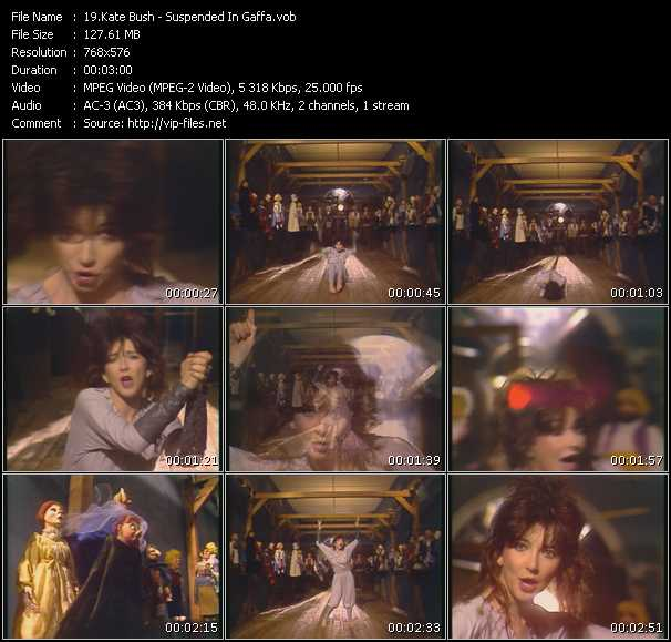 download Kate Bush « Suspended In Gaffa (From Bananas) » video vob