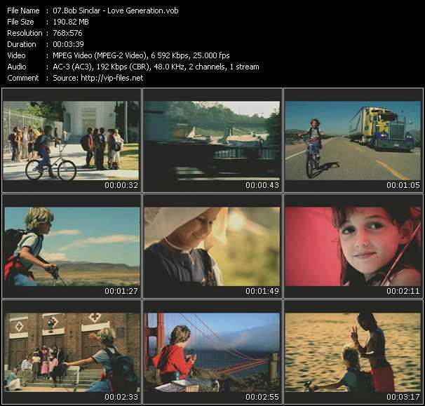 download Bob Sinclar « Love Generation » video vob
