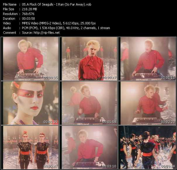 download A Flock Of Seagulls « I Ran (So Far Away) » video vob