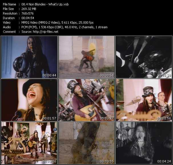 download 4 Non Blondes « What's Up » video vob