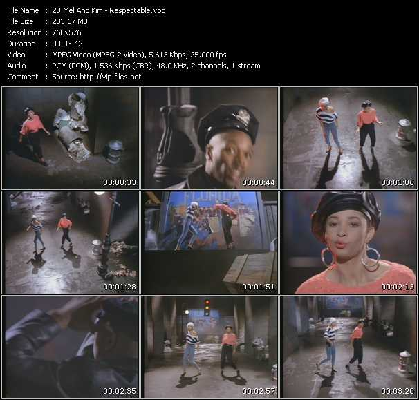 download Mel And Kim « Respectable » video vob