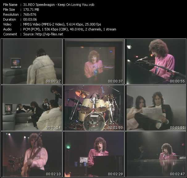 download Reo Speedwagon « Keep On Loving You » video vob