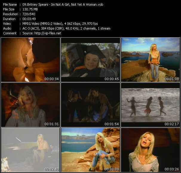download Britney Spears « I'm Not A Girl, Not Yet A Woman » video vob