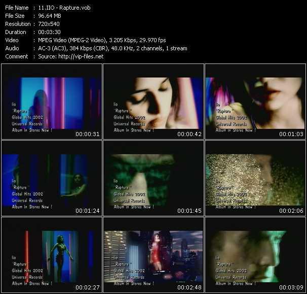download Iio « Rapture » video vob
