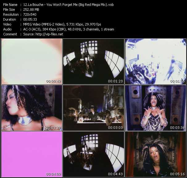 download La Bouche « You Won't Forget Me (Big Red Mega Mix) » video vob