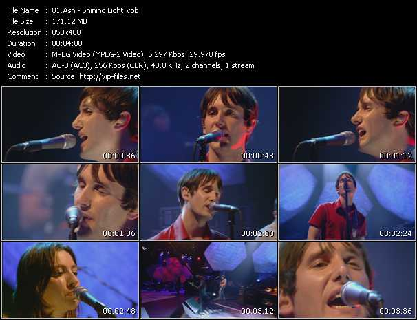 download Ash « Shining Light » video vob