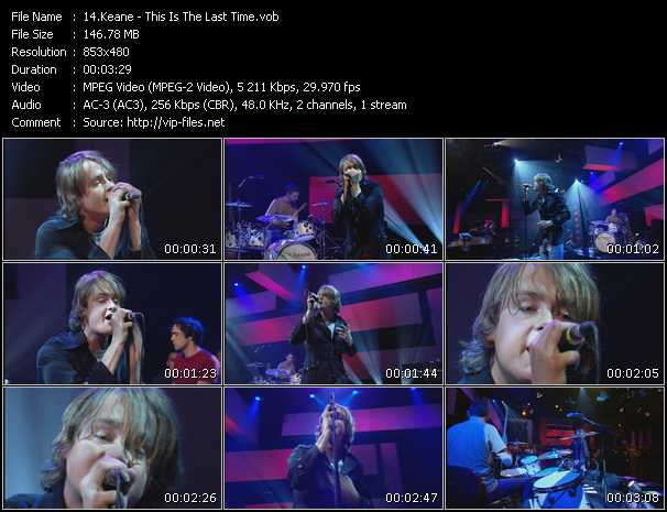 download Keane « This Is The Last Time » video vob