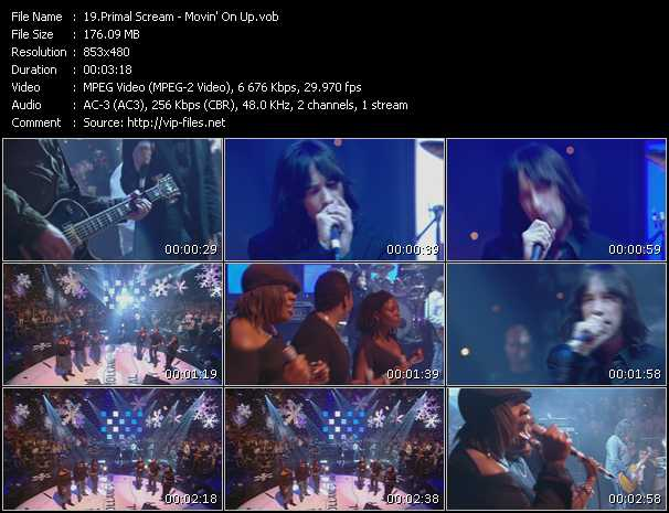 download Primal Scream « Movin' On Up » video vob