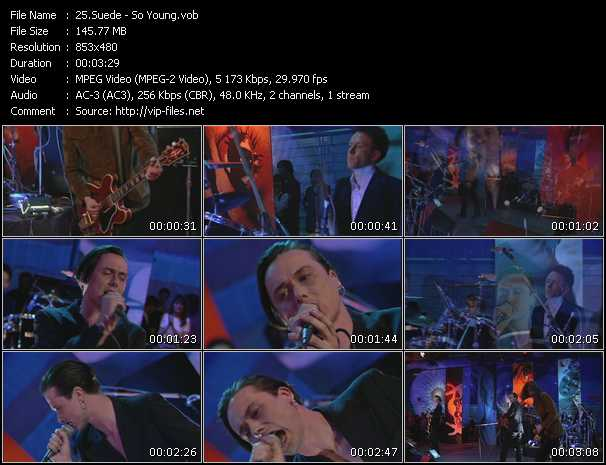 download Suede « So Young » video vob
