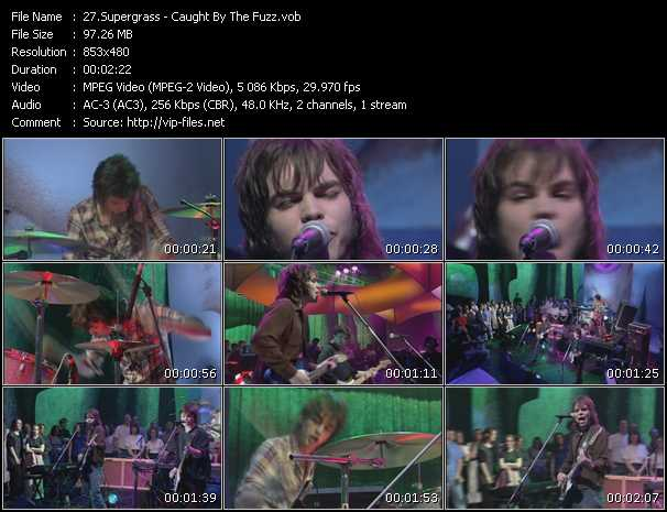 download Supergrass « Caught By The Fuzz » video vob