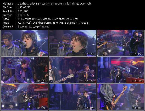 download Charlatans « Just When You're Thinkin' Things Over » video vob