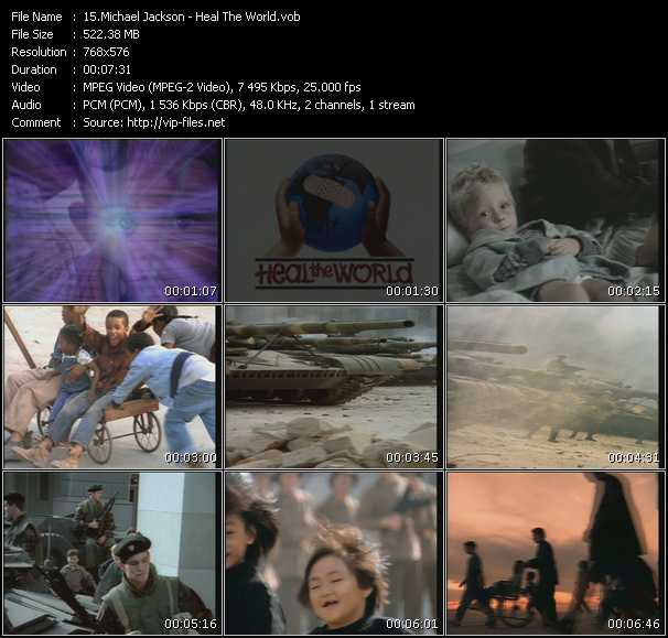 download Michael Jackson « Heal The World » video vob