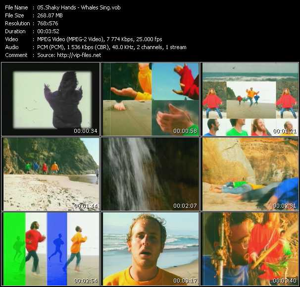 download Shaky Hands « Whales Sing » video vob