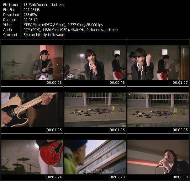 download Mark Ronson « Just » video vob
