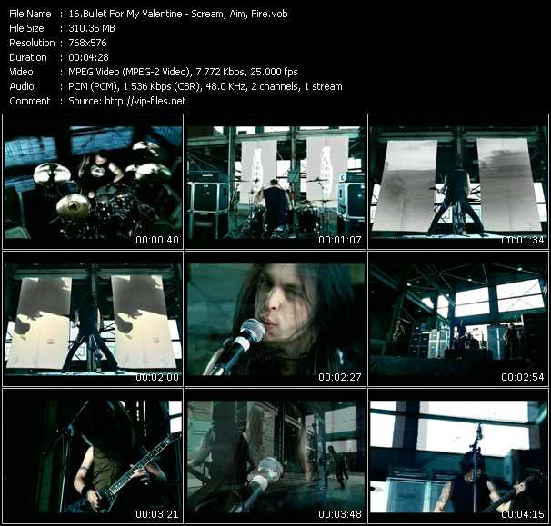 download Bullet For My Valentine « Scream, Aim, Fire » video vob