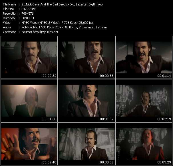 download Nick Cave And The Bad Seeds « Dig, Lazarus, Dig!!! » video vob