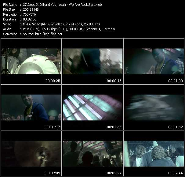 download Does It Offend You, Yeah? « We Are Rockstars » video vob