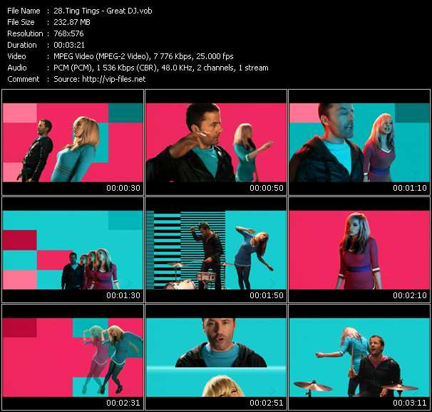 download Ting Tings « Great DJ » video vob