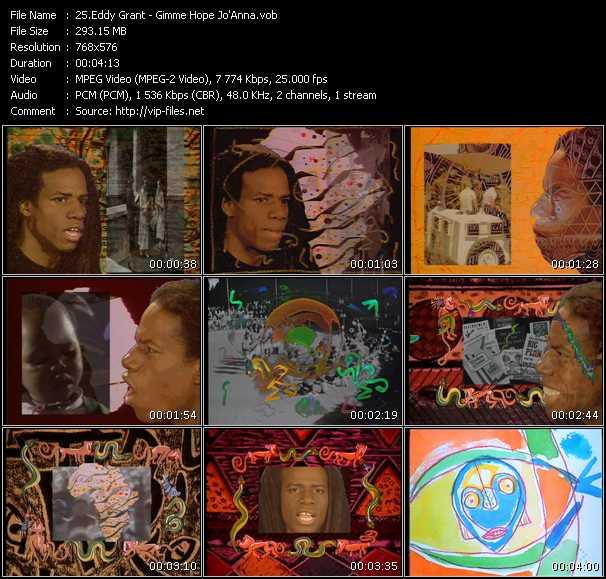 download Eddy Grant « Gimme Hope Jo'Anna » video vob