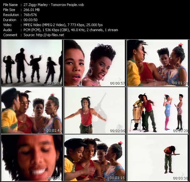 download Ziggy Marley « Tomorrow People » video vob