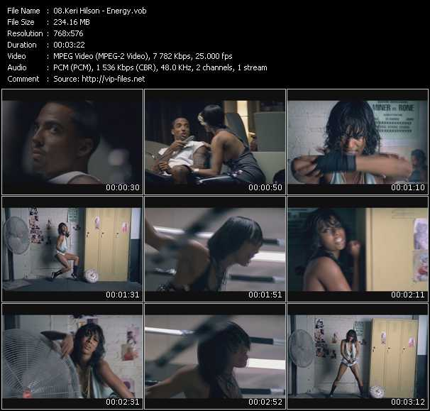 download Keri Hilson « Energy » video vob