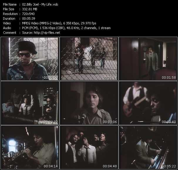 download Billy Joel « My Life » video vob