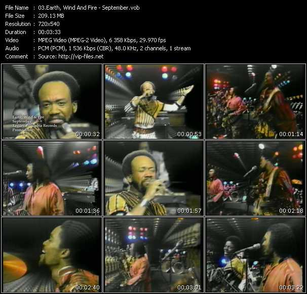 download Earth, Wind And Fire « September » video vob
