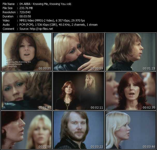 download Abba « Knowing Me, Knowing You » video vob