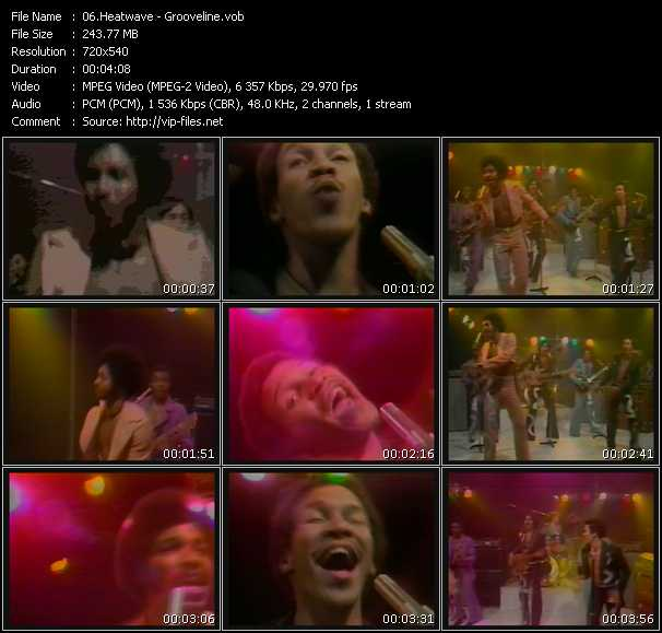 video Grooveline screen