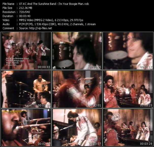 download Kc And The Sunshine Band « I'm Your Boogie Man » video vob
