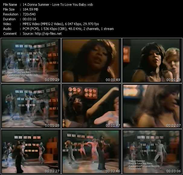 download Donna Summer « Love To Love You Baby » video vob