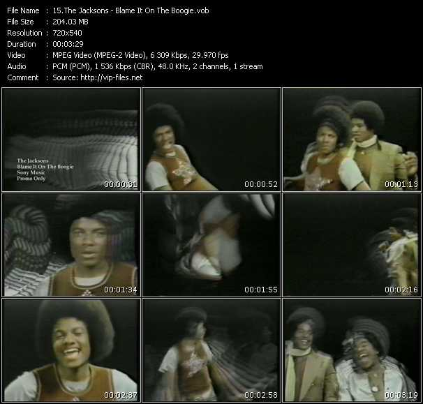 download Michael Jackson And The Jacksons (Jackson 5) « Blame It On The Boogie » video vob